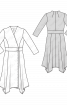 Сукня з ефектом запаху і асиметричним нижнім краєм - фото 3