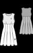 Сукня приталена зі спідницею в складку - фото 3