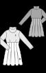 Сукня зі спідницею в складку і високим коміром-стойкою - фото 3