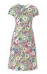 Сукня приталена з асиметричною деталлю на ліфі - фото 2