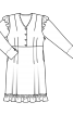 Сукня відрізна з оборками - фото 3