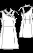Сукня відрізна із асиметричними бретелями - фото 3