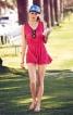 Сукня міні зі зборкою на талії - фото 1