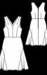 Сукня відрізна і з вшивними клинами годе - фото 3