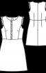 Сукня розкльошеного крою з оборками - фото 3