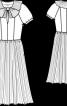 Сукня з відрізною спідницею - фото 3