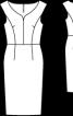Сукня-футляр з вирізом горловини сердечком (1959) - фото 3