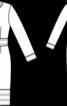 Сукня зі смужками на вшитому поясі і планках переду - фото 3