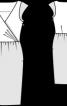 Сукня з глибоким V-подібним вирізом - фото 3