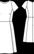 Сукня з короткими рукавами реглан - фото 3