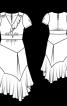 Сукня зі вшитим поясом і широким воланом - фото 3