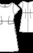 Сукня відрізна по талії з кишенями - фото 3
