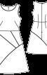 Сукня приталена зі спідницею А-силуету - фото 3