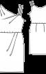 Сукня з асиметричним вирізом горловини - фото 3
