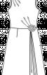 Сукня відрізна по талії з косими складками - фото 3
