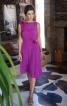 Сукня відрізна по талії з косими складками - фото 1