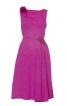 Сукня відрізна по талії з косими складками - фото 2