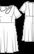 Сукня приталена з фігурним прорізом і широкою спідницею - фото 3
