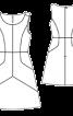 Сукня з рельєфними швами відрізна по талії - фото 3