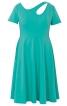 Сукня приталена з фігурним прорізом і широкою спідницею - фото 2
