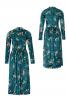 Сукня оксамитова з призбореною спідницею - фото 2