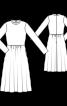 Сукня оксамитова з призбореною спідницею - фото 3