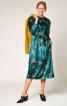 Сукня оксамитова з призбореною спідницею - фото 1