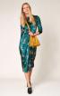 Сукня оксамитова з призбореною спідницею - фото 4