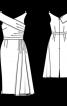 Сукня відрізна з коміром на одне плече - фото 2