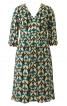 Сукня відрізна з декольте і пишною спідницею - фото 2