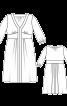 Сукня відрізна з декольте і пишною спідницею - фото 3