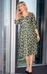 Сукня відрізна з декольте і пишною спідницею - фото 1