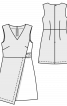Сукня міні з контрастними деталями - фото 3
