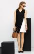 Сукня міні з контрастними деталями - фото 1