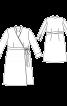Сукня відрізна із запахом і рукавами 7/8 - фото 3