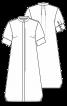 Сукня-сорочка з короткими рукавами - фото 3