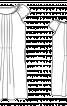 Сукня прямого крою з рукавами реглан - фото 3
