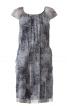 Сукня прямого крою з рукавами реглан - фото 2