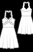 Сукня в стилі 50-х з відкритими плечима - фото 3