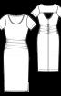 Сукня вузького крою з вирізом на спинці - фото 3