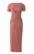 Сукня вузького крою з вирізом на спинці - фото 4
