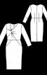 Сукня вузька з драпіровкою на ліфі - фото 3