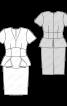 Сукня-футляр із фігурною баскою - фото 3