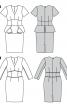 Сукня-футляр із фігурною баскою - фото 6