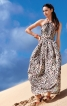 Сукня довга з бретеллю-петлею - фото 1