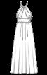 Сукня довга з бретеллю-петлею - фото 3