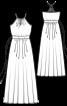 Сукня максі з американською проймою - фото 3