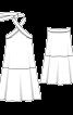 Сукня із заниженою талією і відкритою спиною - фото 3
