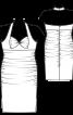 Сукня вузька з бретеллю-петлею - фото 3
