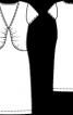 Сукня з V-подібним вирізом і драпіровками - фото 3